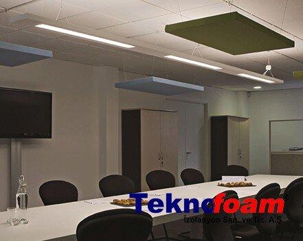 Akustik Yüzer Tavan Paneli Toplantı Odası Ses Yalıtımı