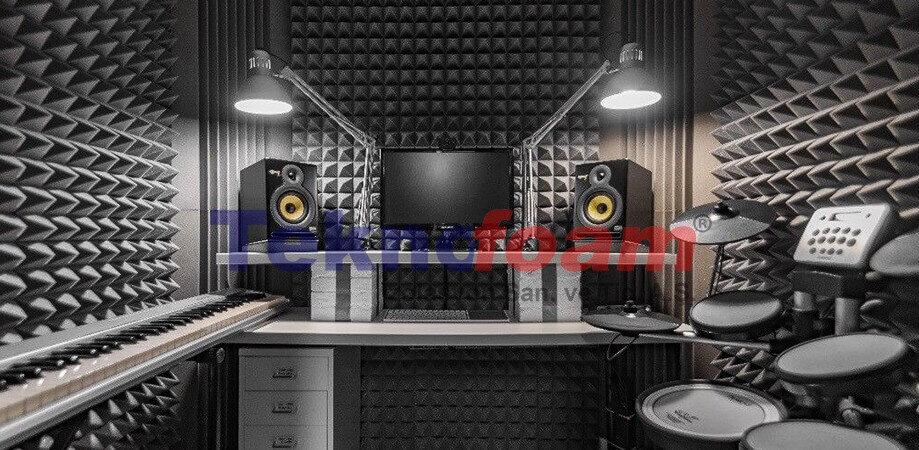 Akustik Ses Yalıtımı Süngerleri Malzemeleri Piramit Tipi Sünger