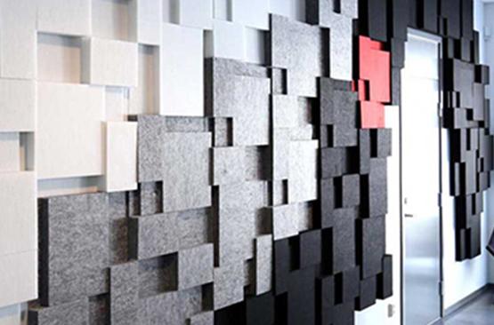 3d akustik keçe panel