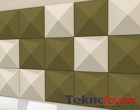 3d kumaş kaplı panel