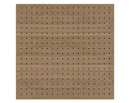 akustik delikli ahşap panel