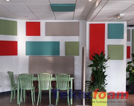 akustik dekoratif kumaş kaplı panel