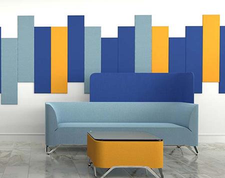 akustik kumaş kaplı duvar paneller