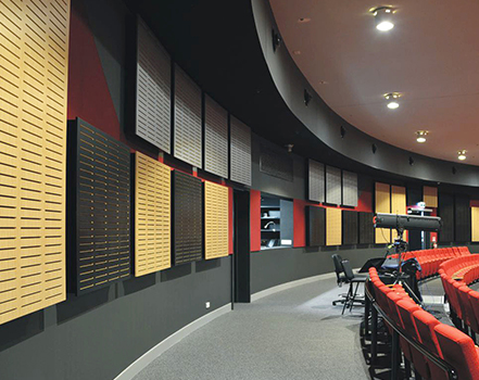 akustik ses yalıtım derzli ahşap panel
