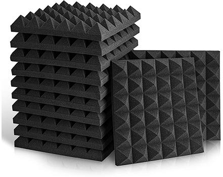akustik yanmaz piramit süngeri