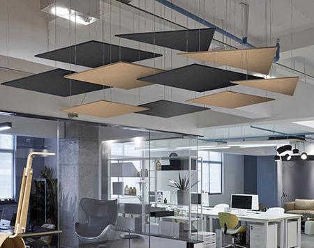akustik yüzer tavan paneli