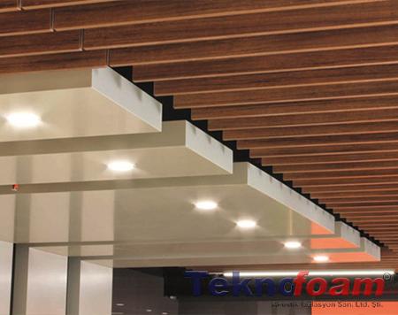 ses yalıtım akustik tavan baffle paneller