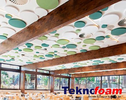 tavan kumaş kaplı panel tavan ses yalıtımı